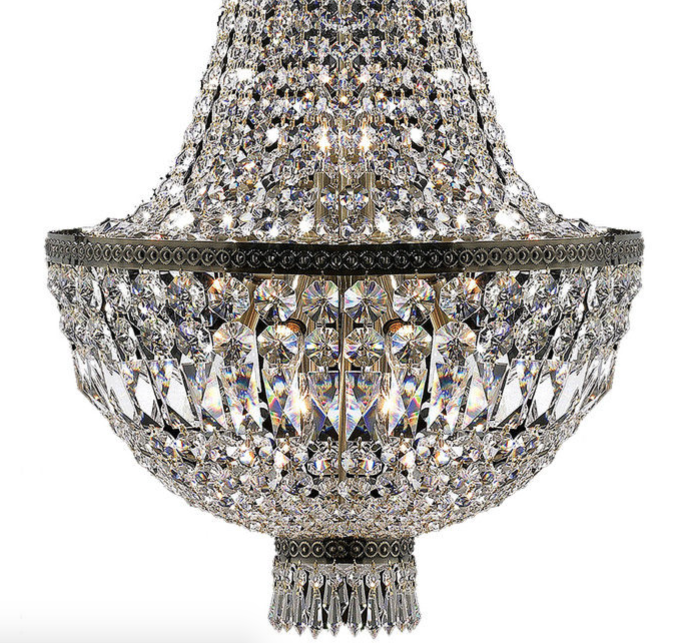 French Rockstar Crystal Basket Chandelier