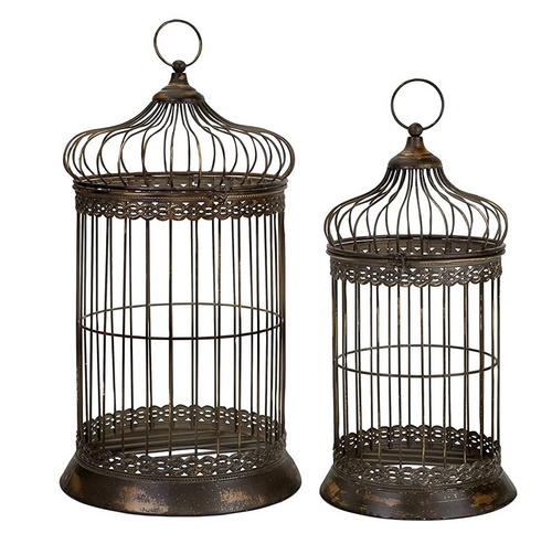 HUGE Oversized Decorative Bird Cages (set of 2)