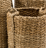 Set of 3 Seagrass Braided Oversized Baskets