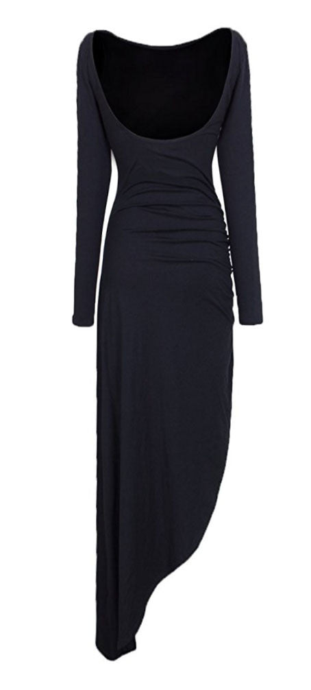 Casual & Sexy Cotton Asymmetrical Low Back Dress (2-10)