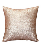 Rose Gold Sequined Pillow 16 X 16