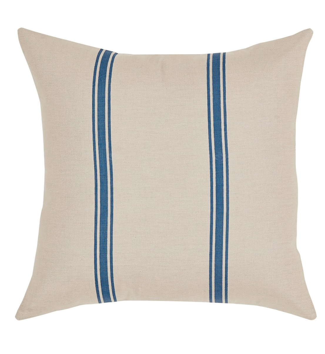 "Natural Blue Stripe Pillow Cover 16"" x 16"""