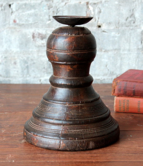 Reclaimed Wood Vintage Handmade Candle Holder (One of a Kind)