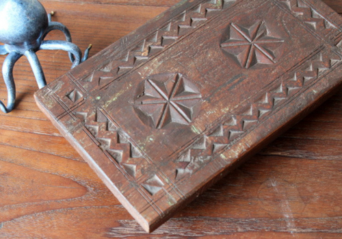 Reclaimed Wood Handmade Carved Tray (One of a Kind)
