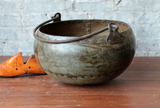 Vintage Metal Pot with Handle (One of a Kind)