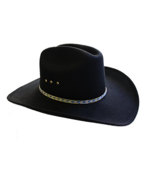 I Am A Cowgirl Rockstar Hat in Black