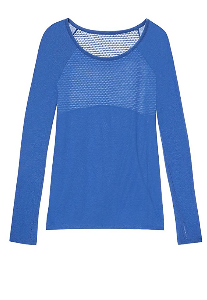 The Perfect Cotton & Mesh Workout Shirt in Electric Blue (XS - XXL)