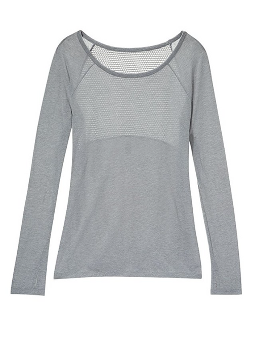 The Perfect Cotton & Mesh Workout Shirt in Heather (XS - XXL)