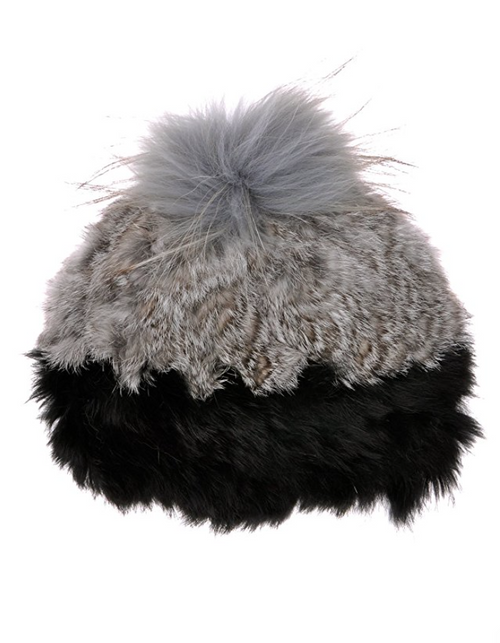 Rock My Rabbit Fur Knit Snow Bunny Beanie