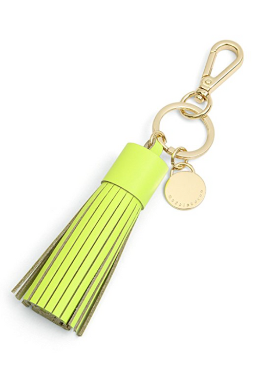 Rock My Yellow Leather Tassel Keychain & Bag Charm