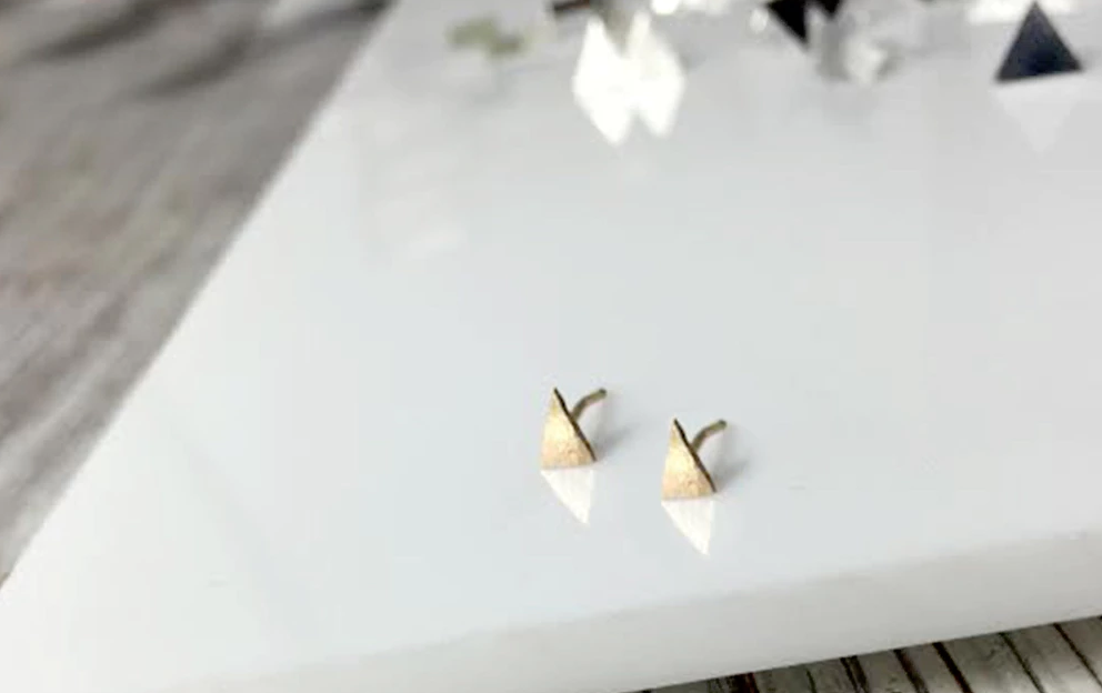 Mark and Estel X Rossmore 14K Pizza My Heart Stud Earrings