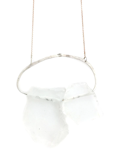 Mark and Estel X Rossmore Starlight Love Quartz Slab Necklace