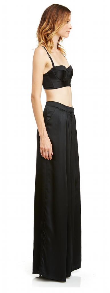 Mark and Estel Collection Silk Wide Leg Trousers Size 8