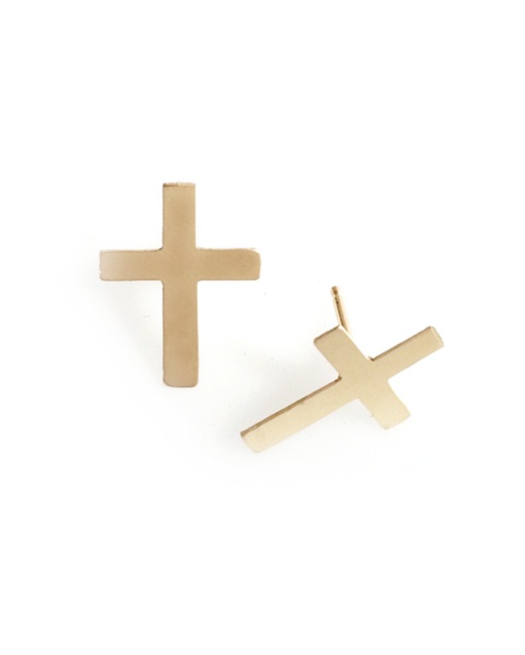 Mark and Estel X Rossmore Cross Boss Earrings in 14K Gold or Sterling