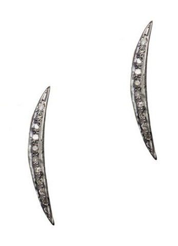 Mark and Estel X Rossmore Starz Mini Hoop Earrings in 14K Gold or Sterling