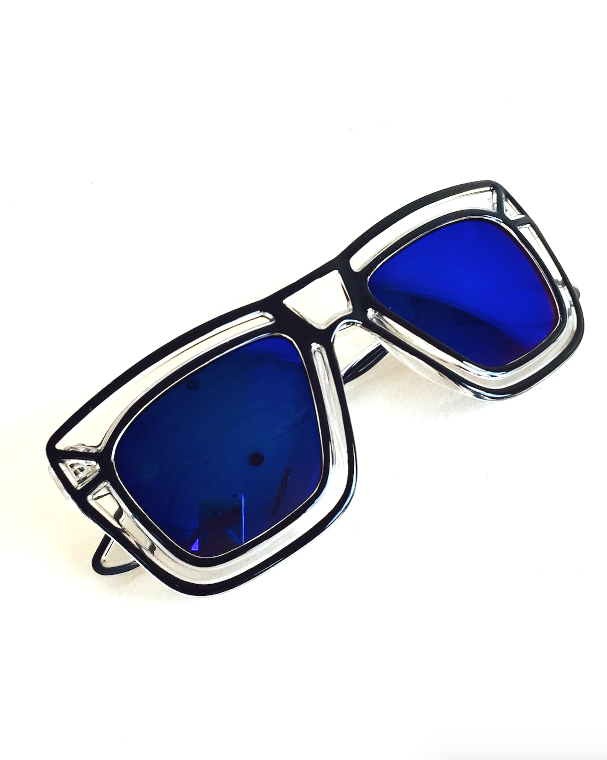 Pop Art Shades with Mirror Blue Lenses