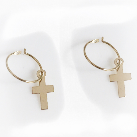 "Mark and Estel X Rossmore ""The Cross"" Necklace in Sterling or Yellow Gold"