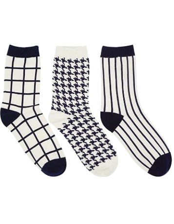 Rockstar Ankle Bootie Socks (3 PAIR)