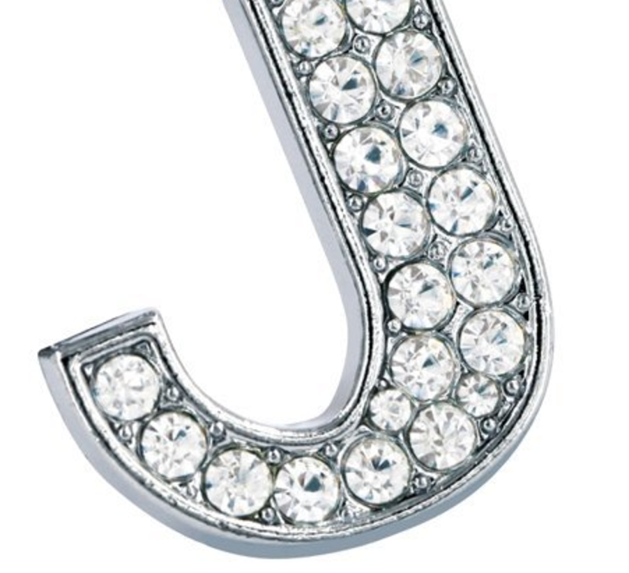 "LIMITED EDITION JAN & FRANK - Jan Day's Famous Rhinestone ""J"" Inspired Keychain"