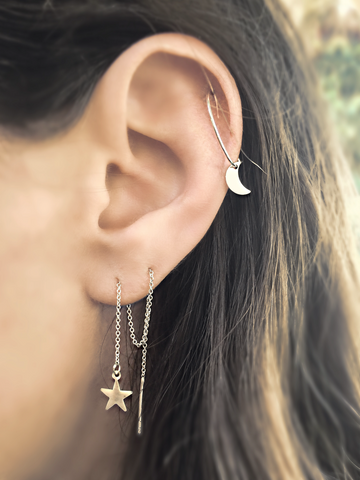 Mark and Estel X Rossmore Itty Bitty 14K Heart Earrings