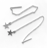 Mark and Estel X Rossmore PEACE STAR Chain Thread Earrings and Moon Hoops Earring Outfit