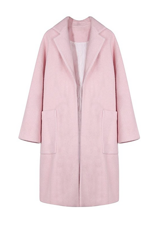 The Pink Pocket Wool Winter Coat (Small - XLarge)