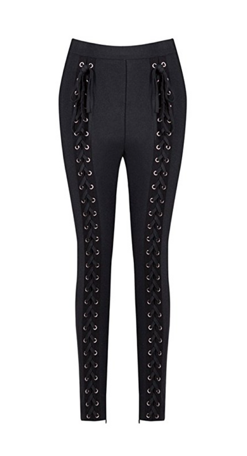 Lace Up Rocker Tight Trousers