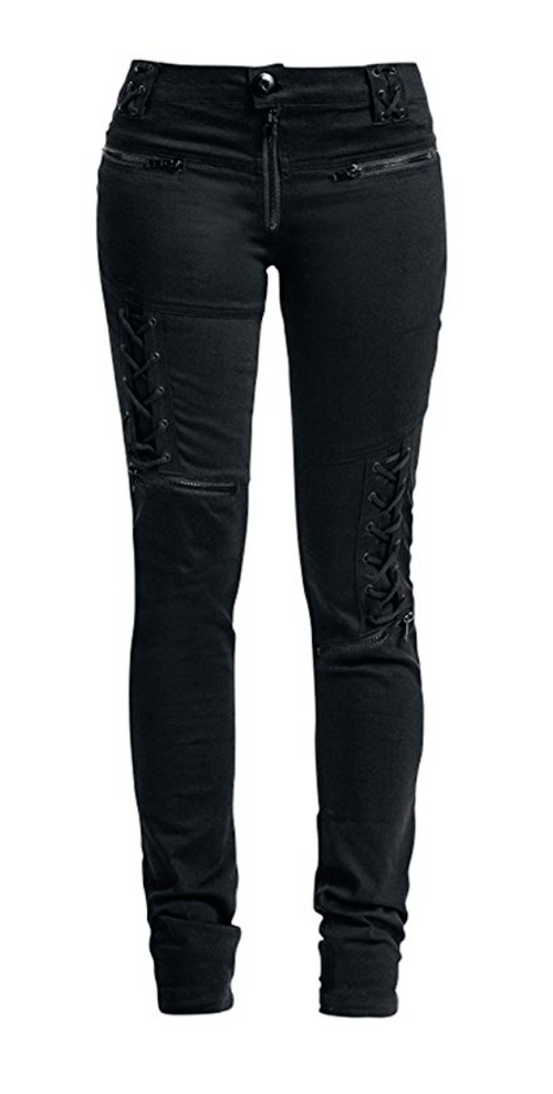 Lace it Up with Zippers Skinny Jeans