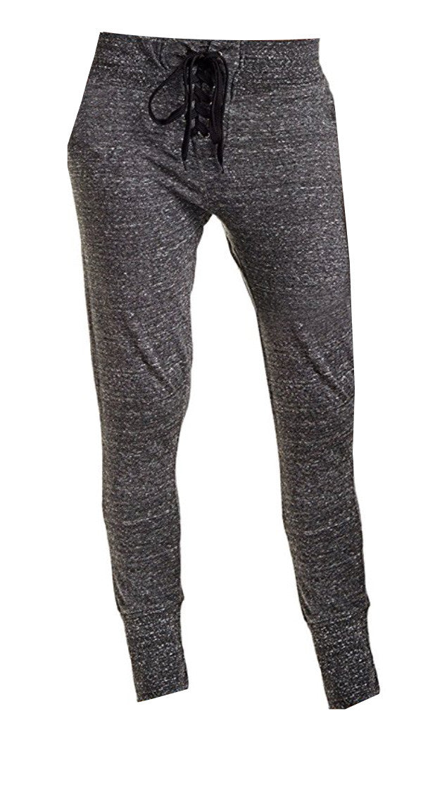 Lace It Up Up Jogger Sweatpants Charcoal Heather