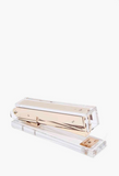 CLEAR Rockstar Lucite and Gold Stapler