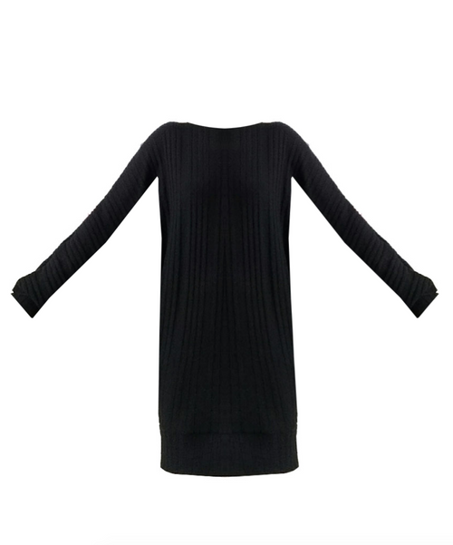 Mark and Estel Cashmere Boatneck Belled Sweater Dress- All Sizes
