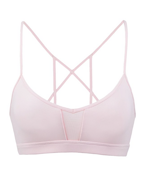 Cage Sports Bra in Pink