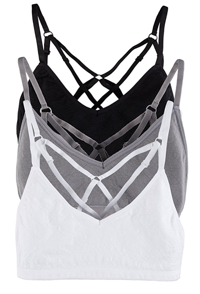 Monochrome Pack - Cage Sports Bra (Pack of 3)