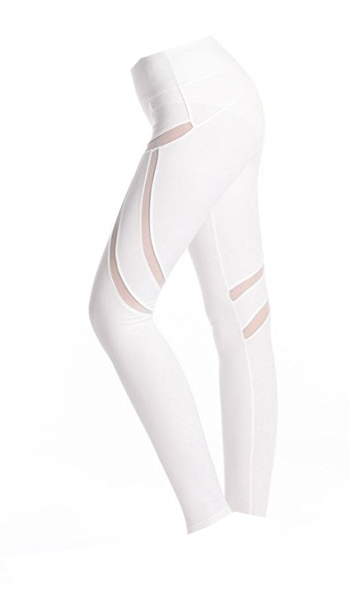Winter White Cut-Out Workout Rockstar Leggings