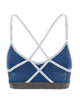 Cage Chrome Sports Bra in Grey/White