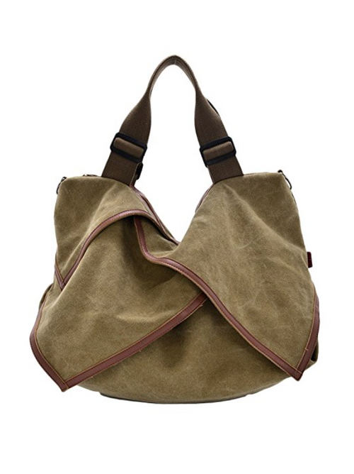 The Jetsetter Distressed Canvas Tote in Khaki