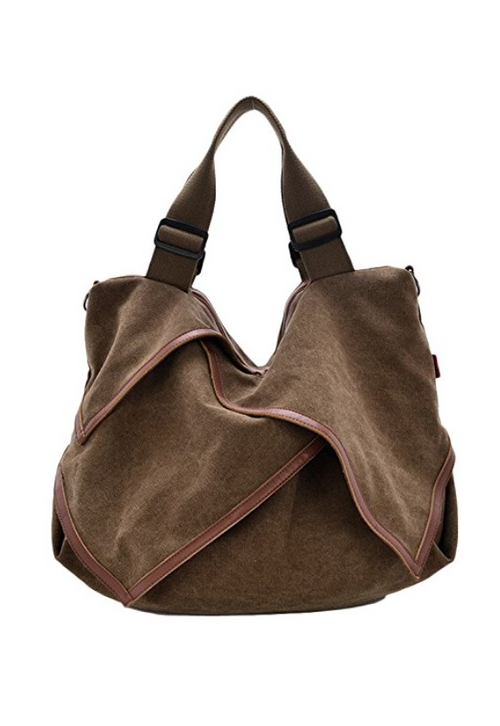 The Jetsetter Distressed Canvas Tote in Brown