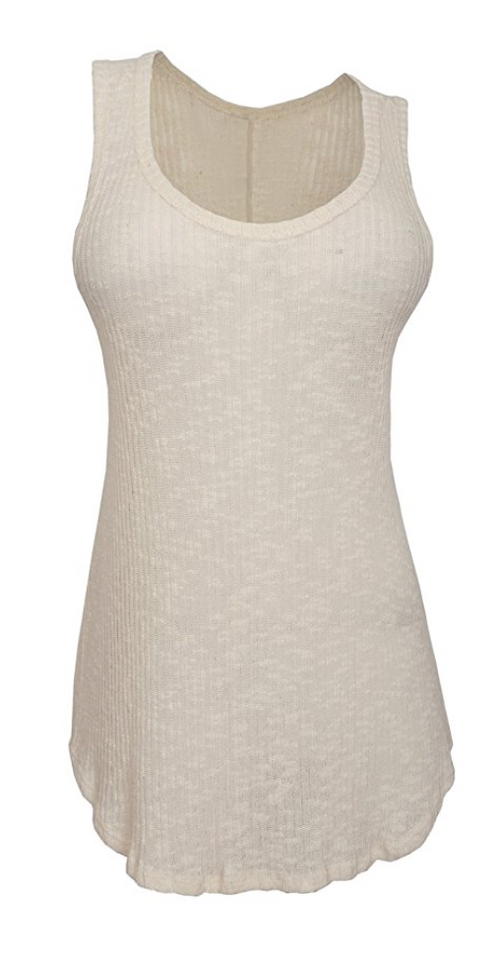 Semi-Sheer Rockstar Tank in Nude (Sizes S - 3XL)