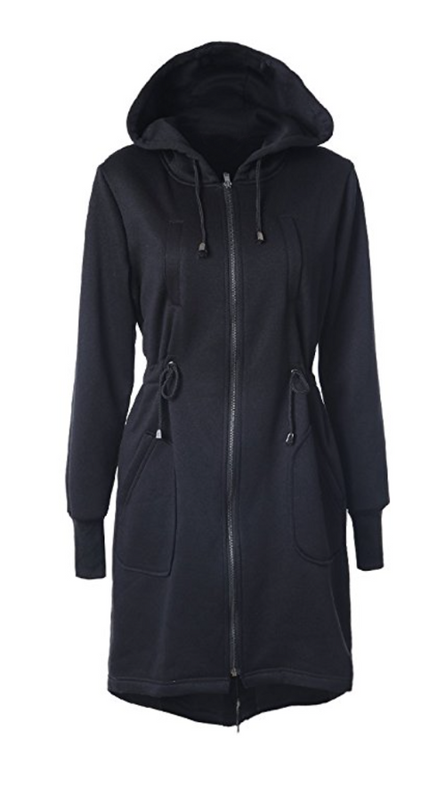 Long Zipper Hoody Dress (Small - 2XLarge)