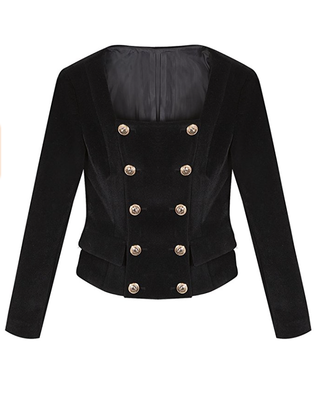 Lonely Hearts Velvet Military Blazer (Small - XLarge)