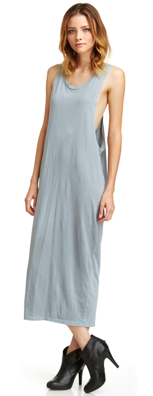 Drop Armhole Dress Grey