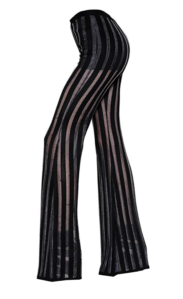 Angelina Sheer Striped Flares (Small - Large)