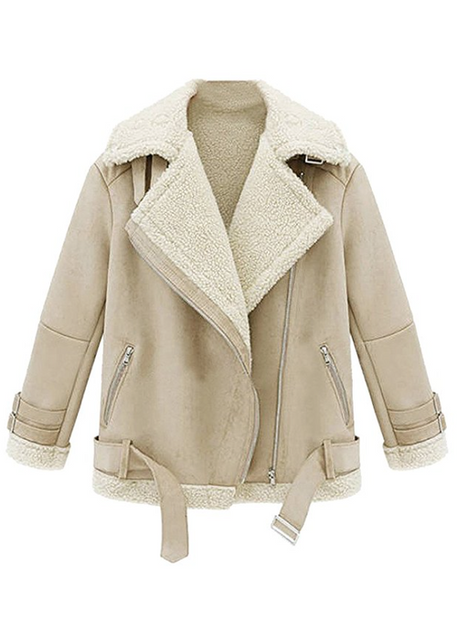 SHEARLING WORKOUT JACKET