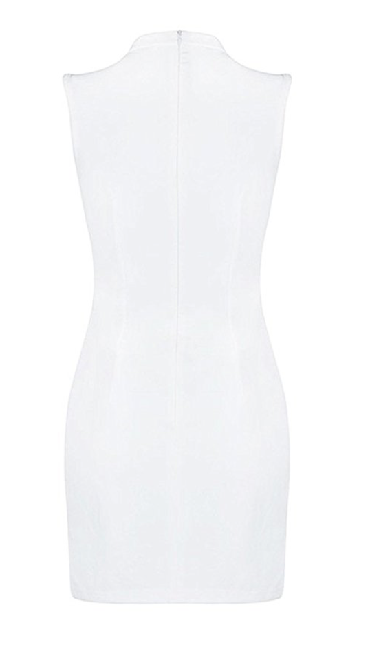 The Ultimate SLEEVELESS Metal Holey Dress in White