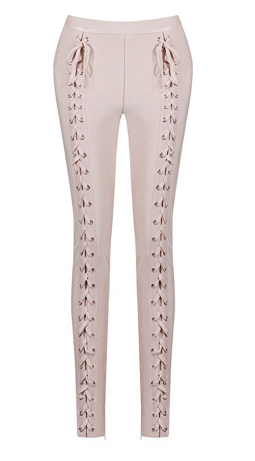 Lace Up Rocker Tight Trousers in PINK (Sizes 2 - 10)