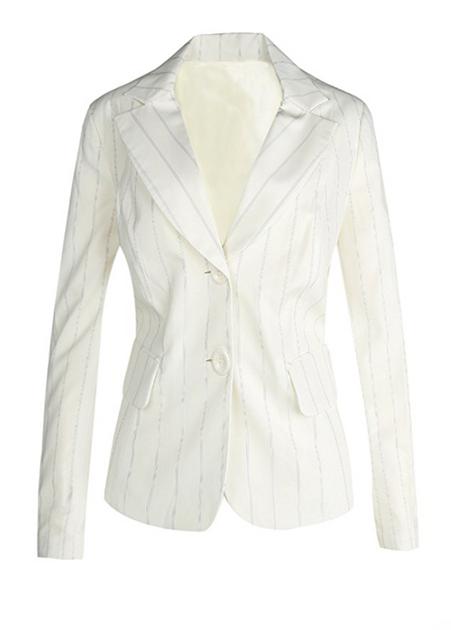 The WHITE Classic Pinstripe Blazer (Sizes 6 - 18)