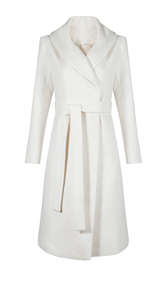 Snow White Wrap Trench Coat (Small - 2XLarge)