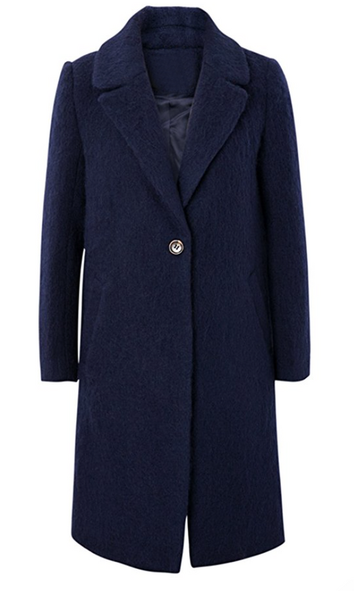 Fuzzy Gone Navy Coat (Small)
