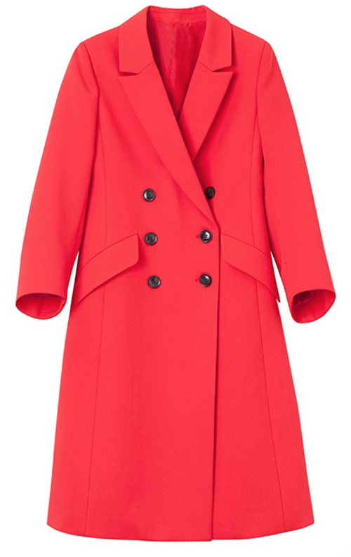The Perfect Spring Overcoat in Strawberry (XSmall - Small)
