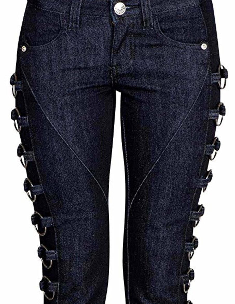Rockstar Ring Cropped Skinny Jeans
